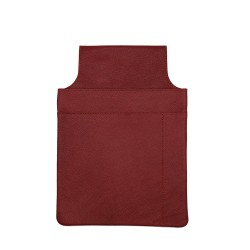 Borseta ospatar, piele naturala, rosu, 21 x 15 cm, L612-06