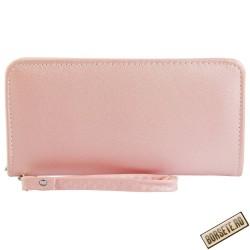 Portofel dama, imitatie piele, roz, 21 x 11 cm, 45-002 - Portofele dama