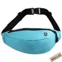 Borseta sport de brau, material textil, albastru deschis, 24 x 14 cm, ABC295 - Borsete de brau