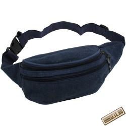 Borseta sport de brau, material textil, albastru, 20 x 12 cm, ABC300 - Borsete de brau