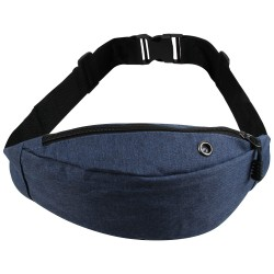 Borseta sport de brau, material textil, albastru, 24 x 14 cm, ABC290 - Borsete de brau