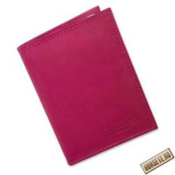 Port card, Tillberg, piele naturala, roz, 8 x 11,5 cm - Port carduri