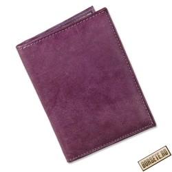 Port card, Tillberg, piele naturala, violet, 8 x 11,5 cm