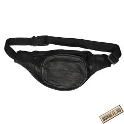 Borseta talie, barbati, neagra, piele naturala, 34 x 15 cm, S903
