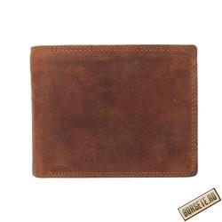Portofele barbati, maro, piele naturala, RFID, 12,5 x 10 cm, L2412
