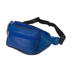 Borseta de brau, piele naturala, albastru, 34 x 15 cm, L904BLUE
