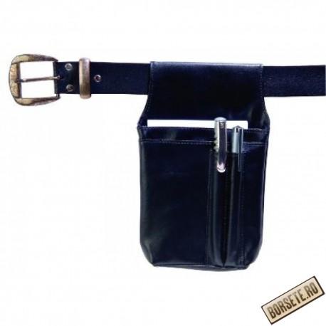 Borseta ospatar, imitatie piele, negru, 21 x 11 cm, L145