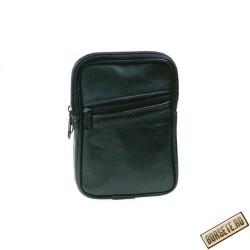 Borseta pentru curea, negru, piele naturala, 10 x 14 cm, A606