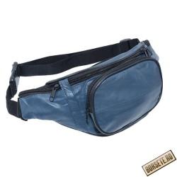 Borseta brau, piele naturala, albastra, 34 x 15 cm, B903NB - Borsete de brau