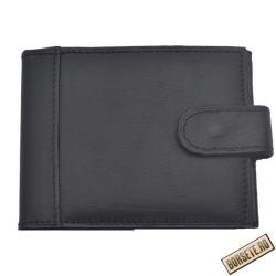 Port card, negru, piele naturala, 10 x 8 cm, B703