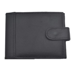 Port card. negru, piele naturala, negru, 10 x 7.5 cm, B703 - Port carduri