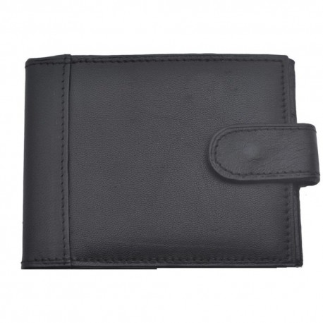 Port card. negru, piele naturala, negru, 10 x 7.5 cm, B703