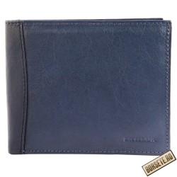 Portofel barbati, piele naturala, albastru, 12 x 10 cm, Excellanc, 125-003