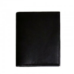 Port card, piele naturala, negru, protectie RFID, 9.5 x 11.5 cm, B1233RFID