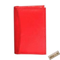 Port card, piele naturala, rosu, 7.5 x 11 cm, B701R