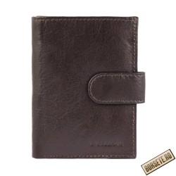 Port card, piele naturala, maro inchis, 8 x 10 cm, Excellanc, M105MI