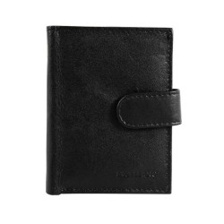 Port card, piele naturala, negru, 8 x 10 cm, Excellanc, M105N - Port carduri