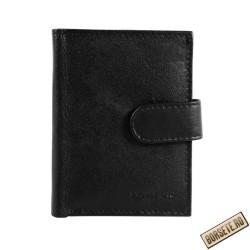 Port card, piele naturala, negru, 8 x 10 cm, Excellanc, M105N