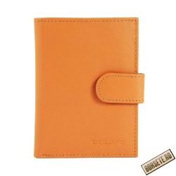 Port card, piele naturala, maro, 8 x 10 cm, Excellanc, M105M