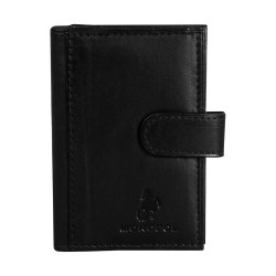 Port card, piele naturala, negru, 7.5 x 11 cm, Monopol, B702N - Port carduri