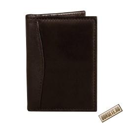 Port card, piele naturala, maro, 7.5 x 11 cm, B701M