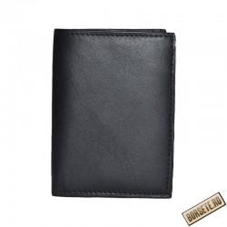 Port card, piele naturala, negru, 8 x 10.5 cm, B471 - Port carduri